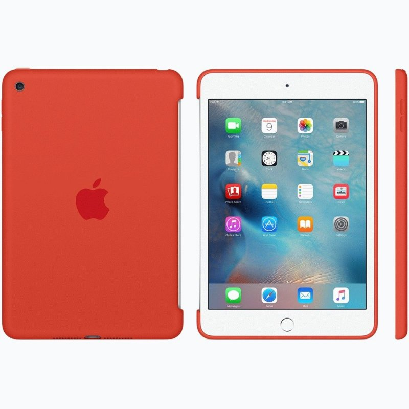 Накладка Apple Silicone Case для iPad mini 4 Orange (MLD42ZM/A)