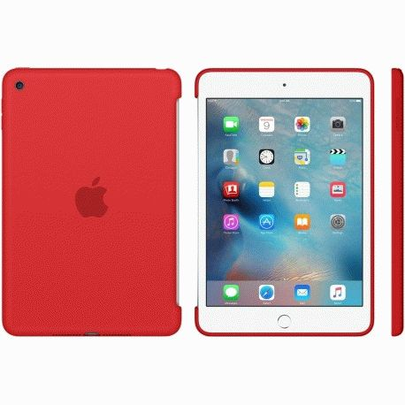 Накладка Apple Silicone Case для iPad mini 4 Red (MKLN2ZM/A)