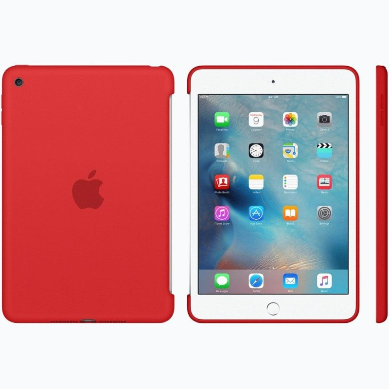 Накладка Apple Silicone Case для iPad mini 4 Red (MKLN2ZM/A)