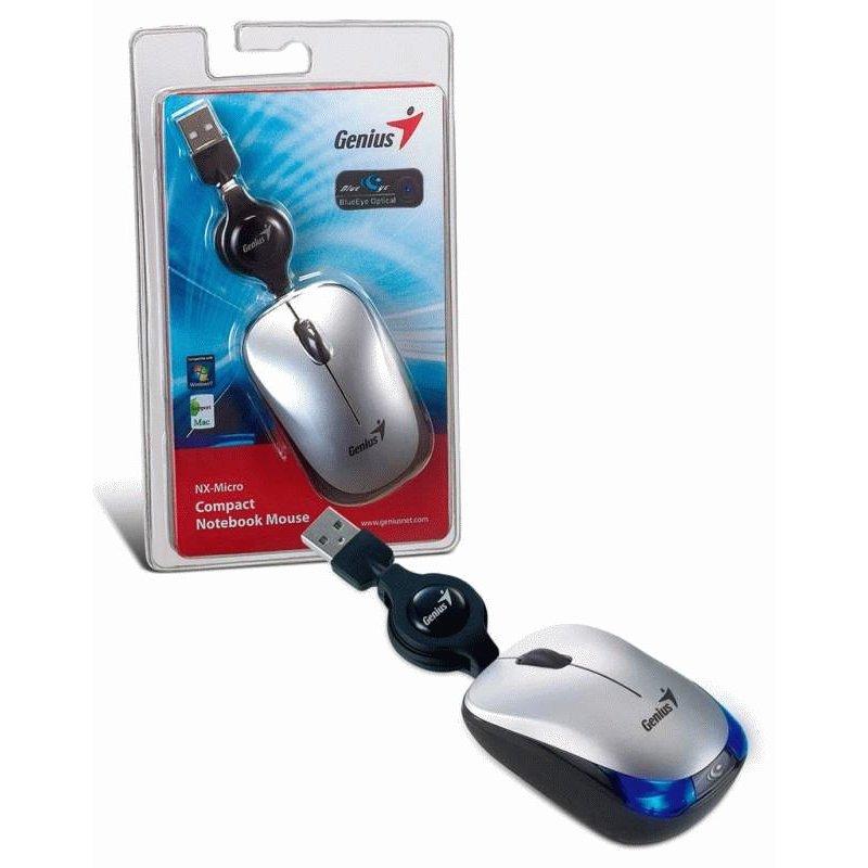 Мышь компьютерная Genius NX-Micro USB Silver