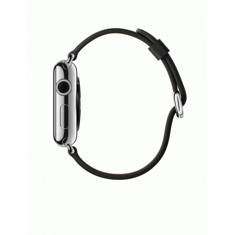 Apple Watch 42mm Stainless Steel Case with Black Classic Buckle (MLFA2)
