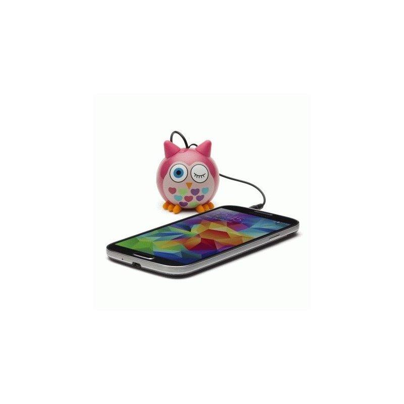 Колонка KitSound Mini Buddy Speaker Owl (Pink)
