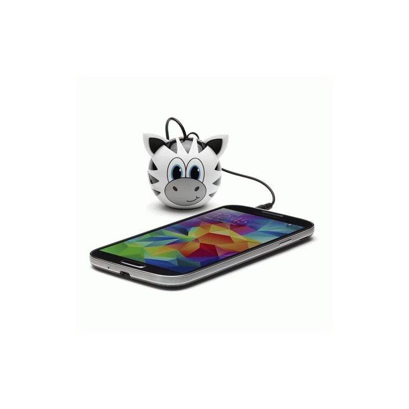 Колонка KitSound Mini Buddy Speaker Zebra (White)