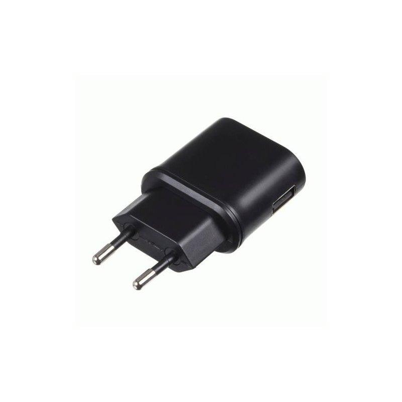 Сетевое зарядное устройство Kit EU USB Mains Charger 1A Black