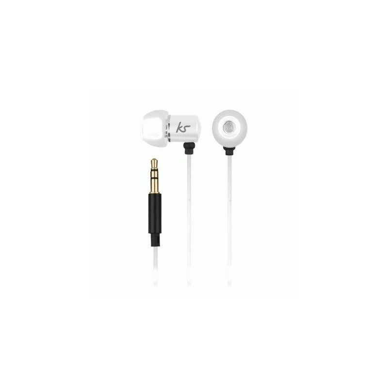 KitSound Ace In-Ear Headphones with mic White (KSACEMWH)