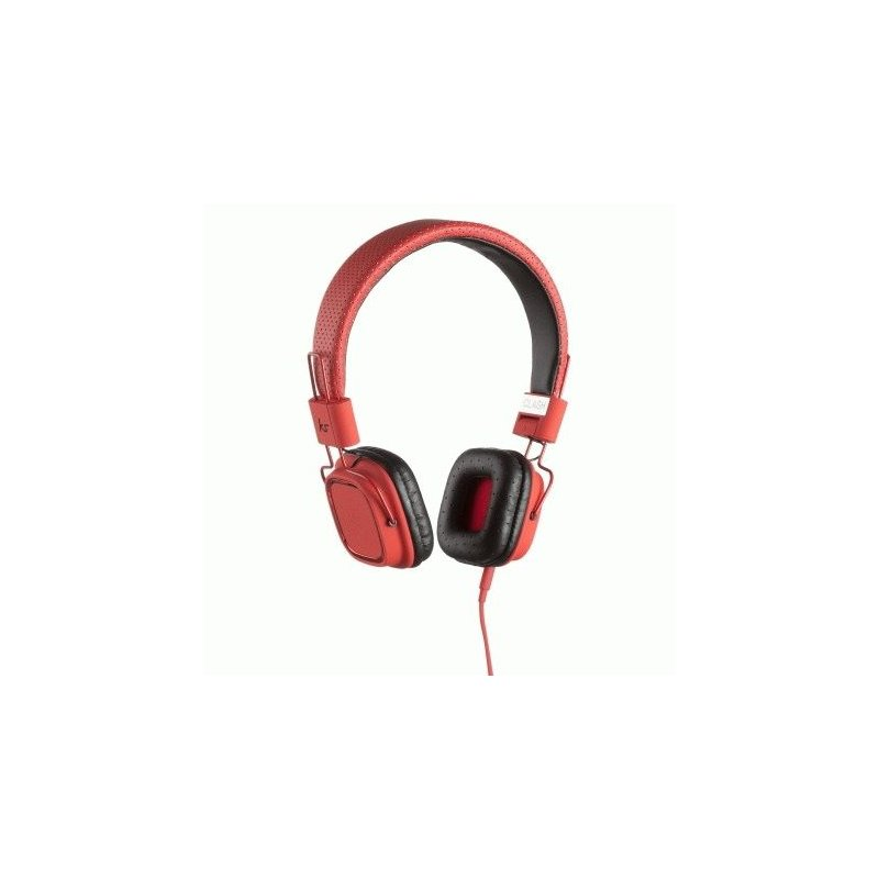 KitSound Clash On-Ear Headphones with In-line Mic Red (KSCLARD)
