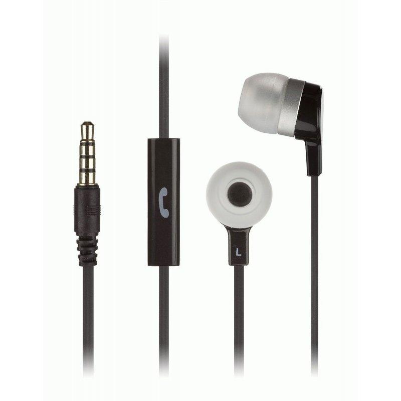 KitSound Entry Mini In-Ear Headphones with Mic Black (KSMINIBK)