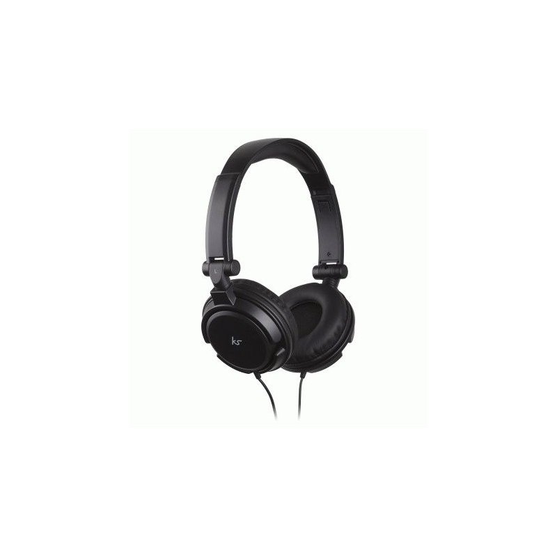 KitSound iD Headphones with Microphone and Multi-function Button Black (KSIDBK)