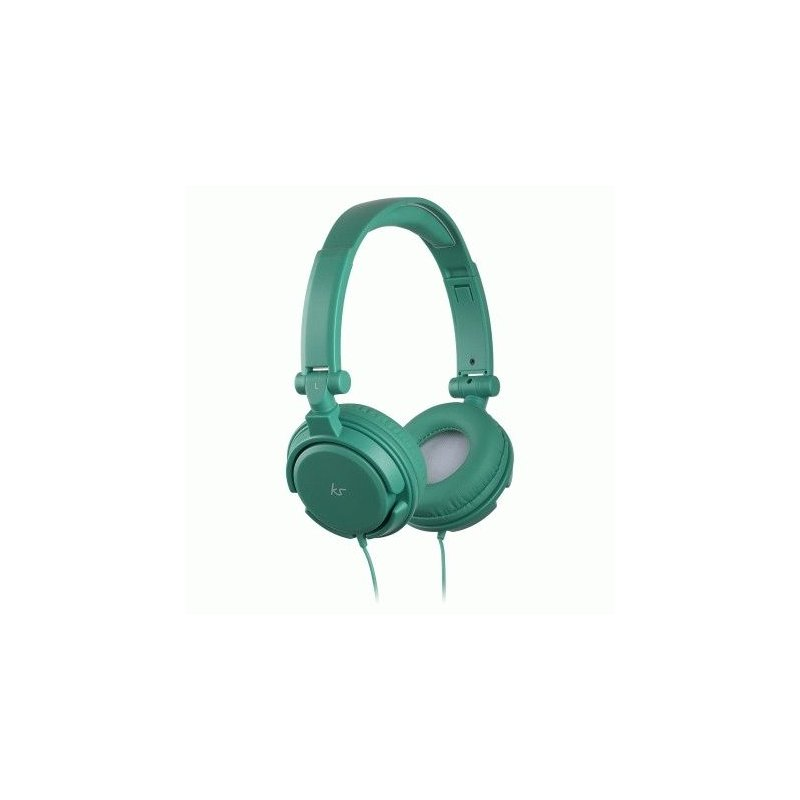 KitSound iD Headphones with Microphone and Multi-function Button Green (KSIDGR)