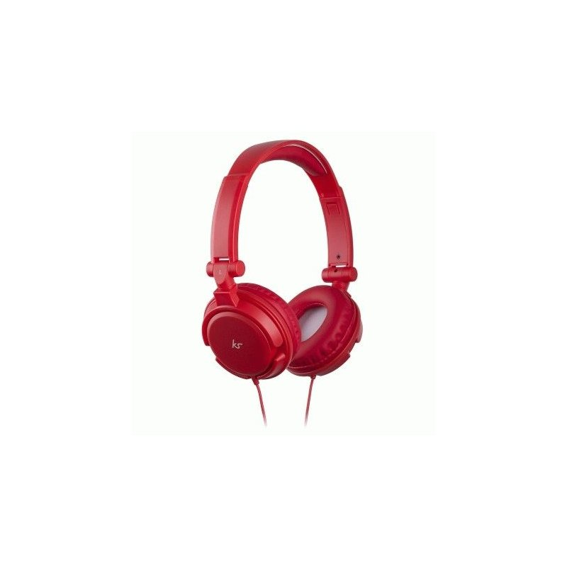 KitSound iD Headphones with Microphone and Multi-function Button Red (KSIDRD)