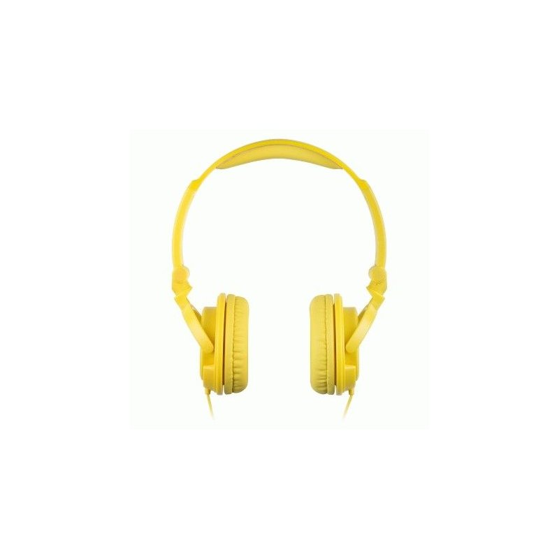 KitSound iD Headphones with Microphone and Multi-function Button Yellow (KSIDYL)