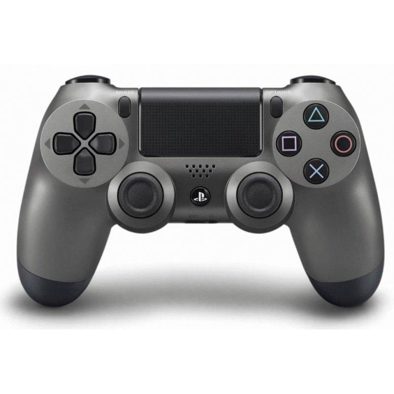 Оригинальный беспроводной джойстик Dualshock 4 Steel Black (PS4)