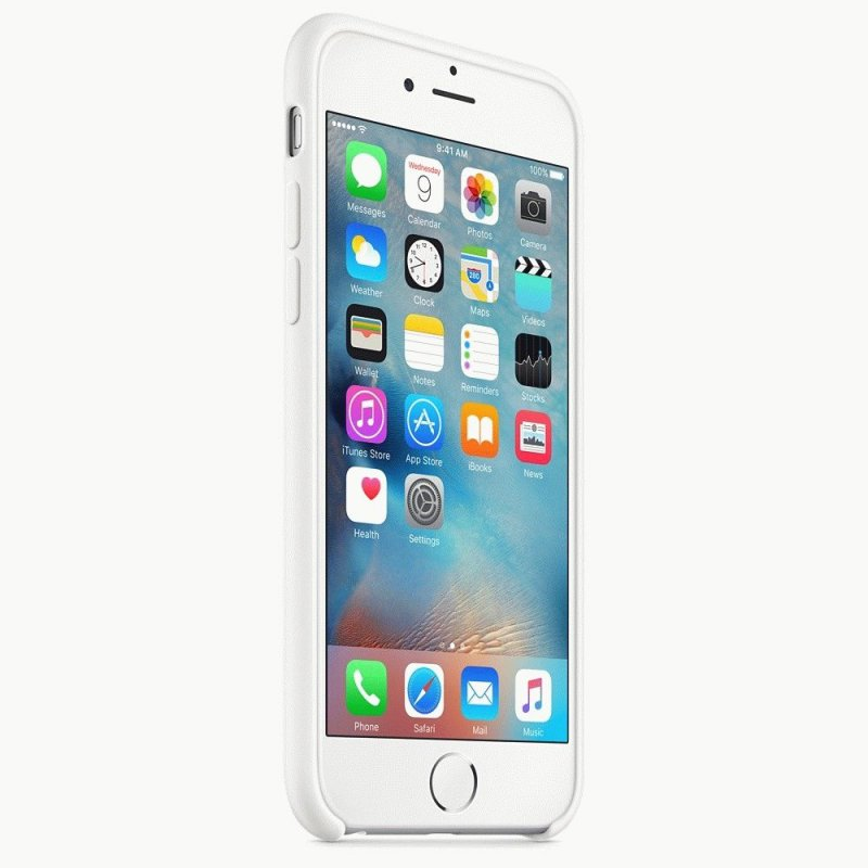 Чехол Apple iPhone 6s Silicone Case White (MKY12ZM/A)