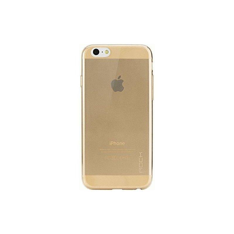 TPU накладка Rock Slim Jacket для Apple iPhone 6 Gold