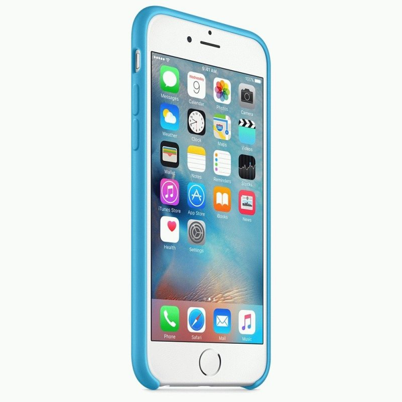 Чехол Apple iPhone 6s Silicone Case Blue (MKY52ZM/A)
