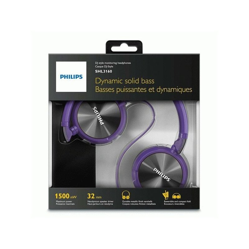 Philips SHL3160PP/00 Purple