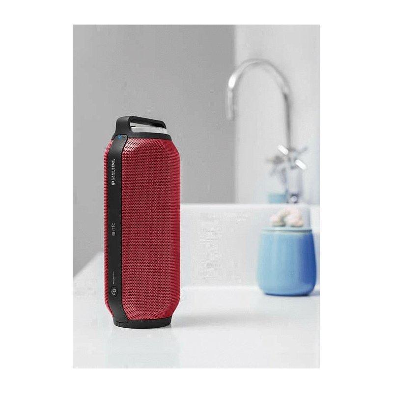 Philips BT6600 Wireless Portable Speaker BT6600R/12) Red