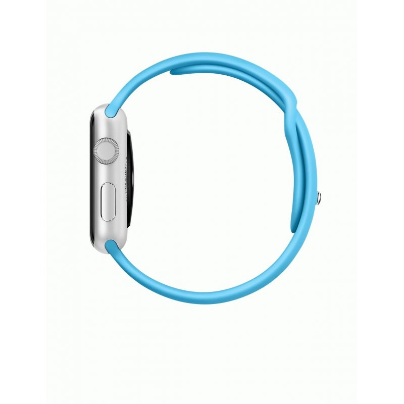 Apple Watch Sport 42mm Silver Aluminum Case with Blue Sport Band (MLC52)