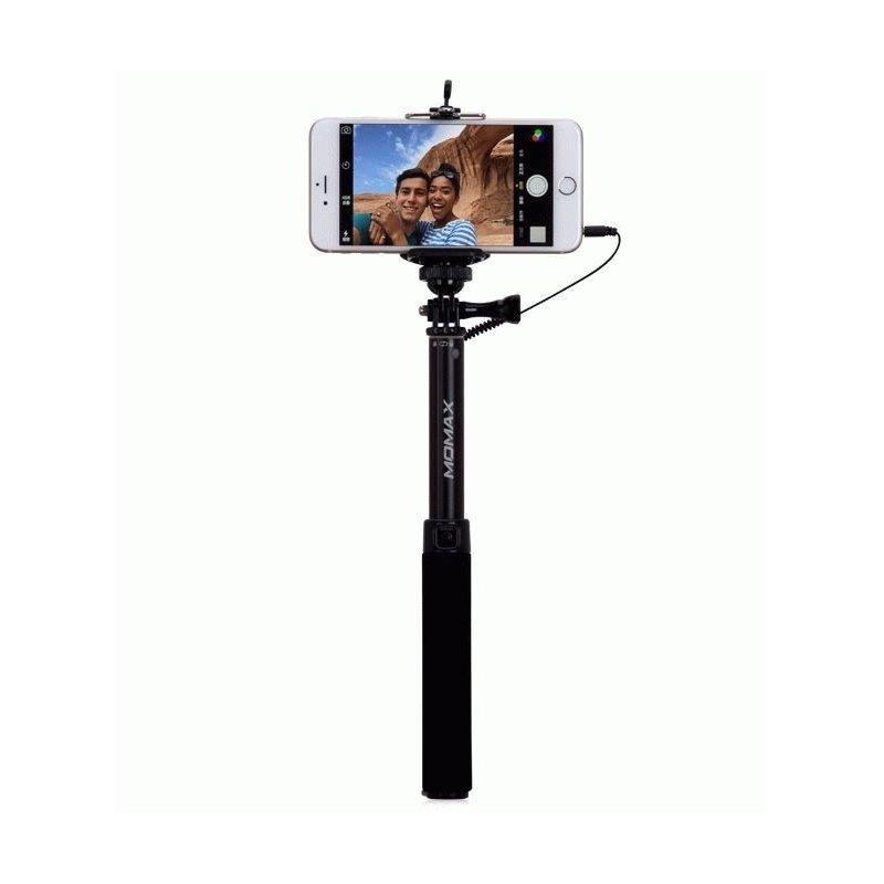 Телескопический монопод Momax Selfie Easy для селфи (KMS1CD) Black