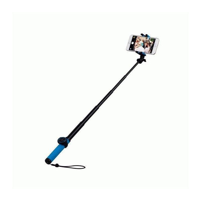 Телескопический монопод Momax Selfie Hero 70cm Bluetooth для селфи (KMS6D) Blue