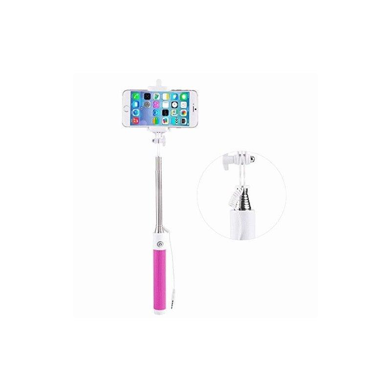 Телескопический монопод Selfie Stick Pink