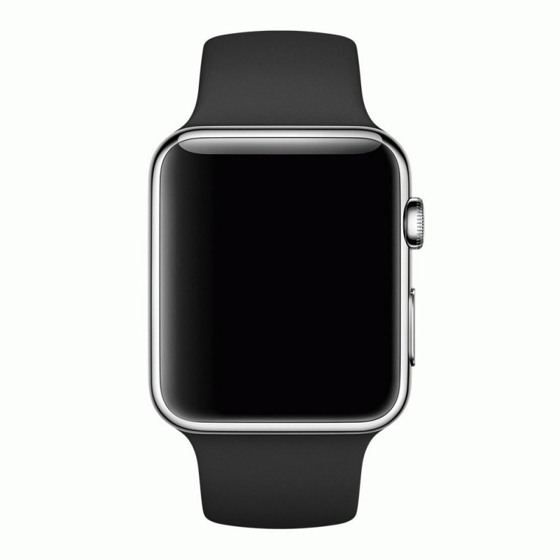 Ремешок для Apple Watch 42mm Sport Black Band with Steel Pin (MJ4Q2)