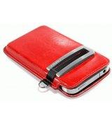 Кожаный чехол Capdase Smart Pocket Callid для Apple iPhone 4/4s Red