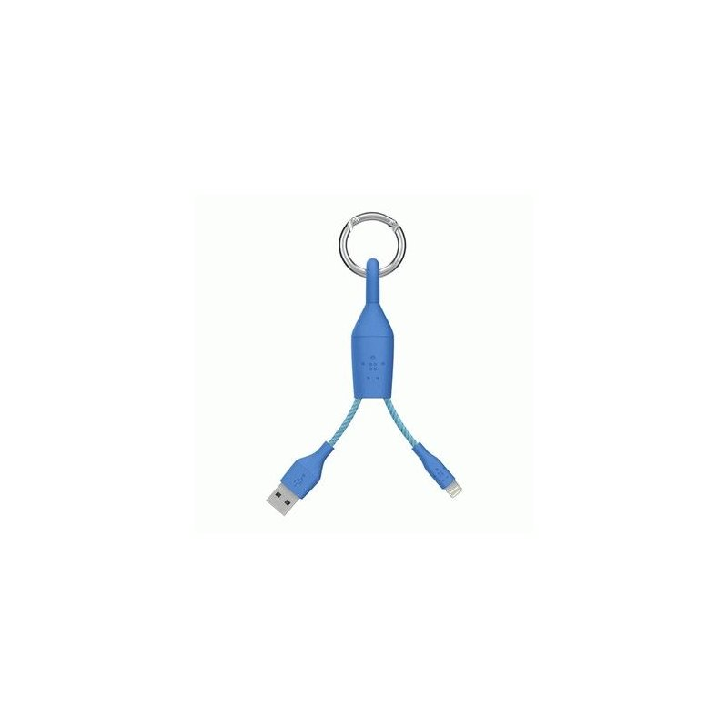 Кабель-Брелок Belkin USB 2.0 Lightning Charge Carabiner Cable MFI (Blue)