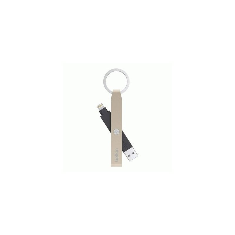 Кабель-Брелок Belkin USB 2.0 Lightning Charge Keychain Cable MFI (Gold)