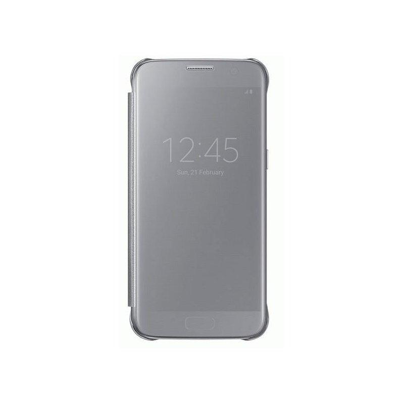 Чехол Clear View Cover для Samsung Galaxy S7 G930 Silver (EF-ZG930CSEGRU)