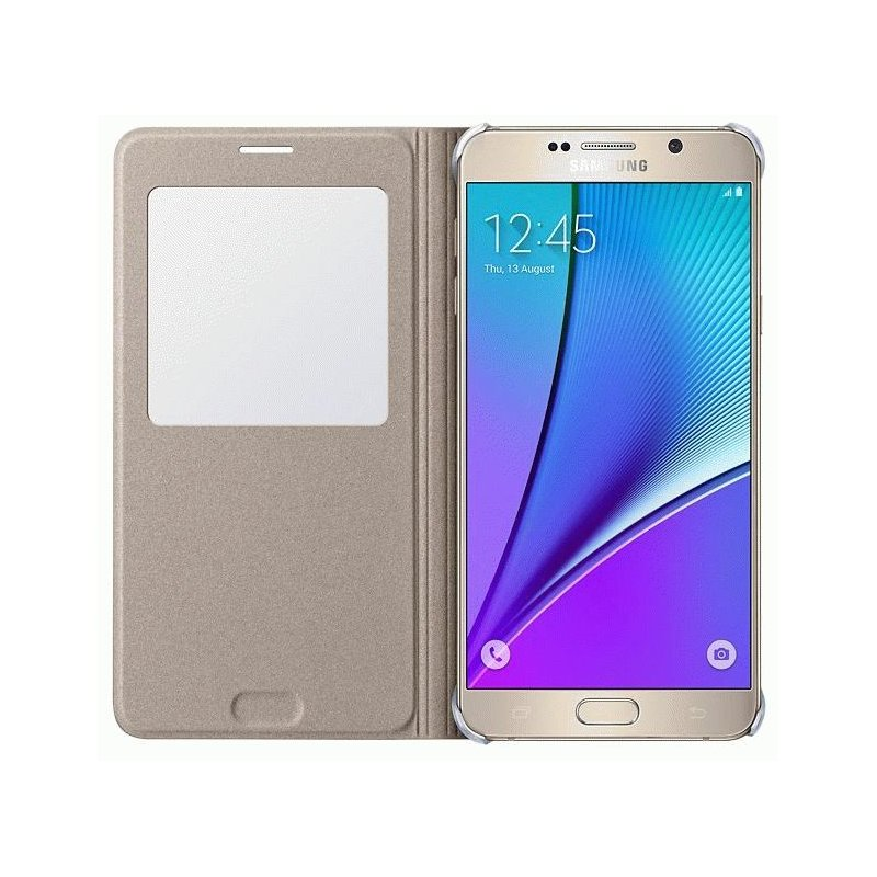 Чехол S View для Samsung Galaxy Note 5 N920 Gold (EF-CN920PFEGRU)