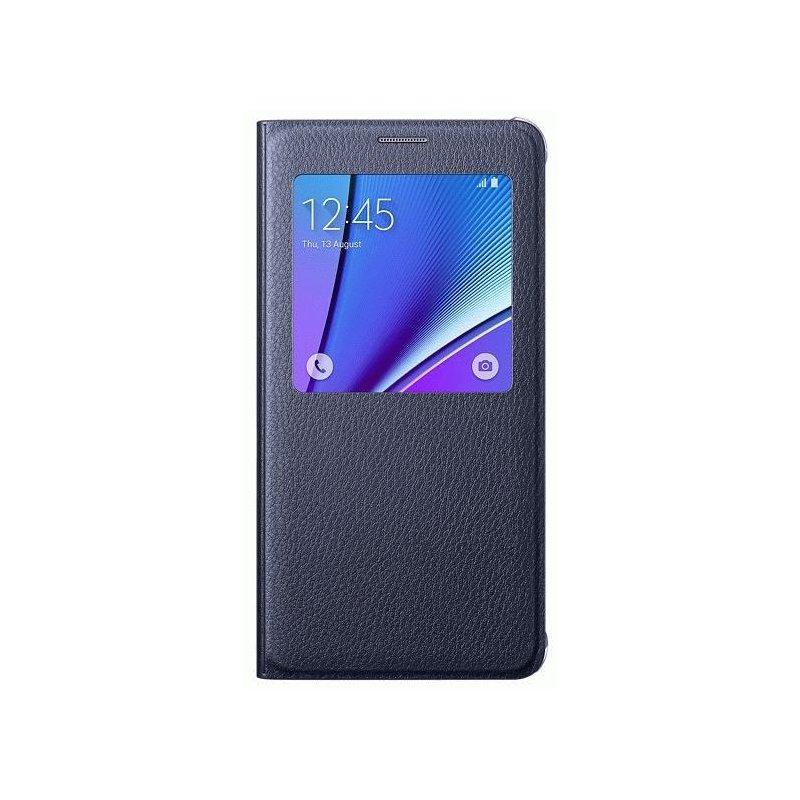 Чехол S View для Samsung Galaxy Note 5 N920 Black-Blue (EF-CN920PBEGRU)