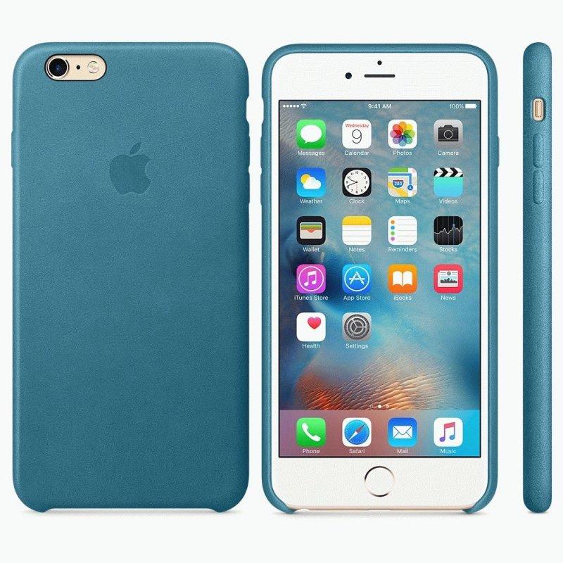 Чехол Apple iPhone 6s Plus Leather Case Marine Blue (MM362ZM/A)