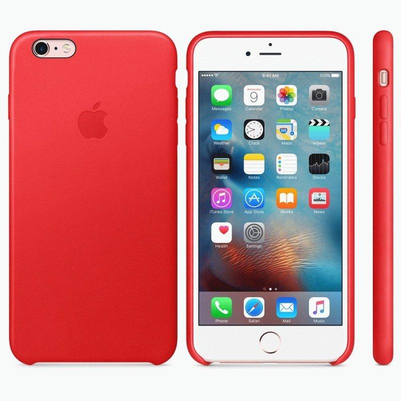 Чехол Apple iPhone 6s Plus Leather Case Red (MKXG2ZM/A)