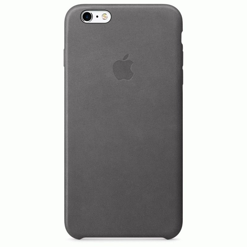 Чехол Apple iPhone 6s Plus Leather Case Storm Gray (MM322ZM/A)