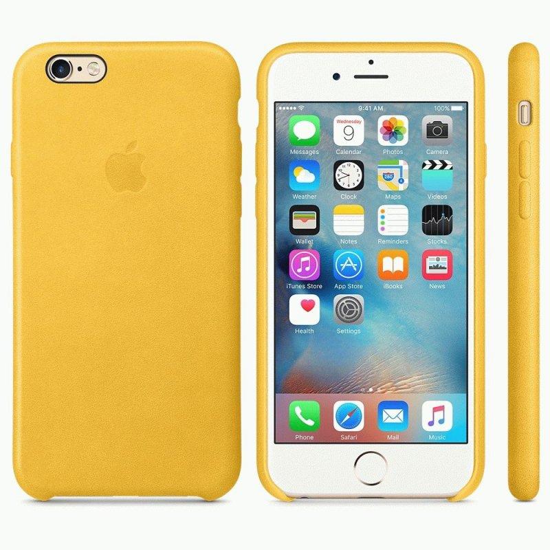 Чехол Apple iPhone 6s Leather Case Marigold (MMM22ZM/A)