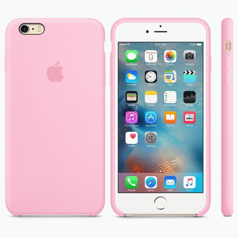 Чехол Apple iPhone 6s Plus Silicone Case Light Pink (MM6D2ZM/A)
