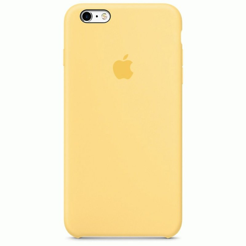 Чехол Apple iPhone 6s Plus Silicone Case Yellow (MM6H2ZM/A)