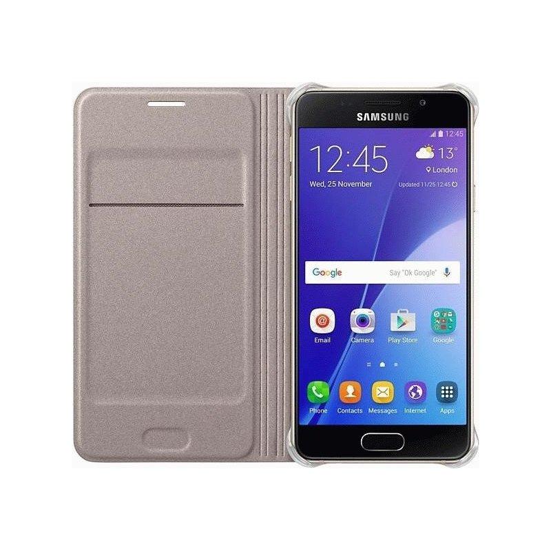 Чехол Flip Cover для Samsung Galaxy A3 Duos A3 (2016) A310 Gold (EF-WA310PFEGRU)