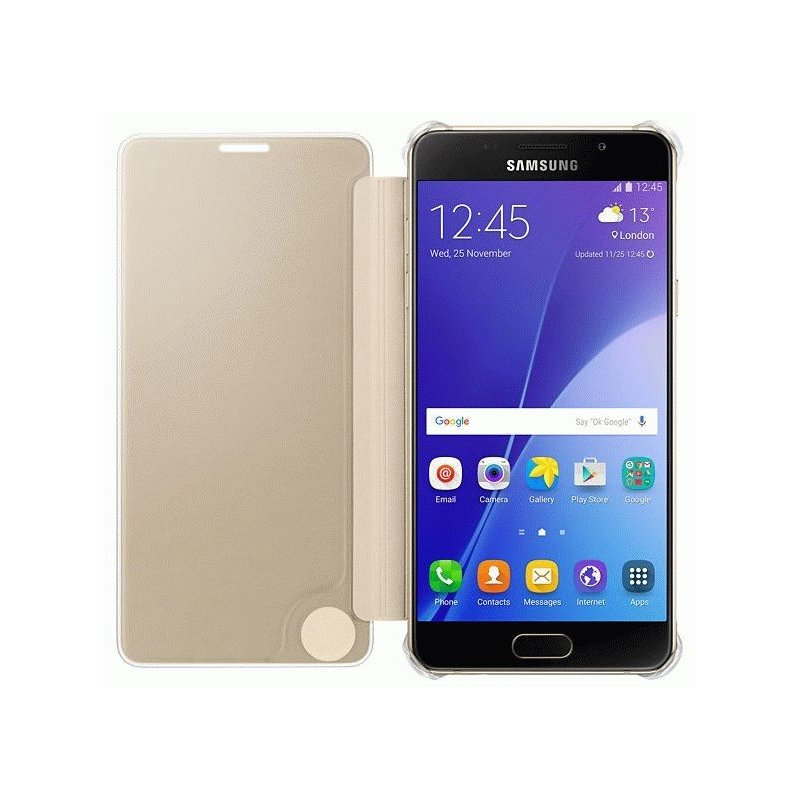 Чехол Clear View Cover для Samsung Galaxy A5 (2016) A510 Gold (EF-ZA510CFEGRU)