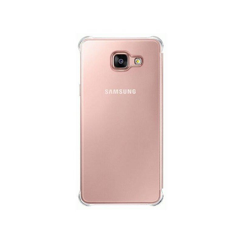 Чехол Clear View Cover для Samsung Galaxy A5 (2016) A510 Pink Gold (EF-ZA510CZEGRU)
