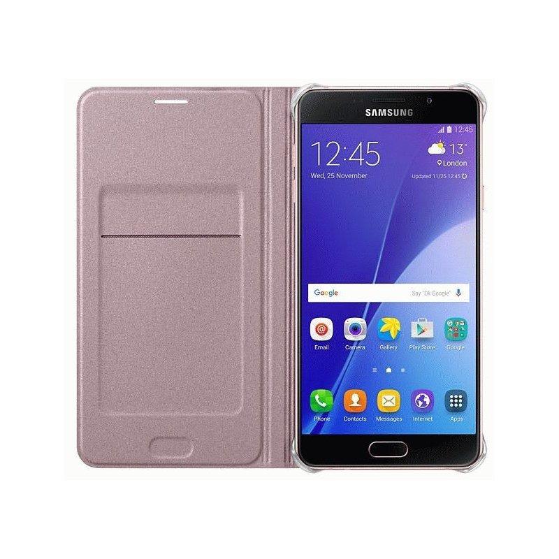 Чехол Flip Cover для Samsung Galaxy A7 (2016) A710 Pink Gold (EF-WA710PZEGRU)