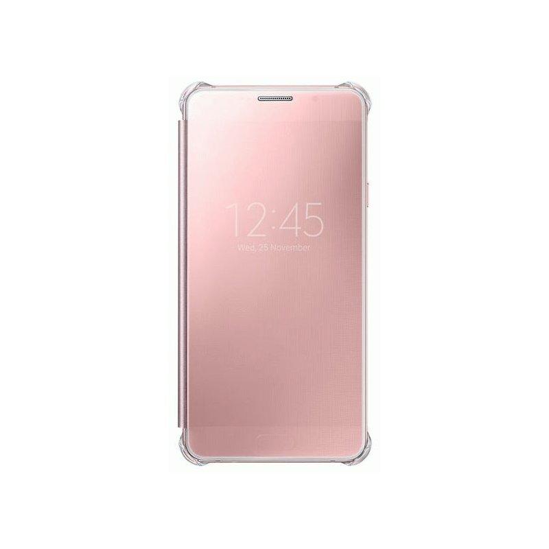 Чехол Clear View Cover для Samsung Galaxy A7 (2016) A710 Pink Gold (EF-ZA710CZEGRU)
