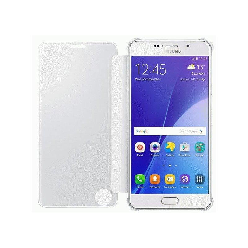 Чехол Clear View Cover для Samsung Galaxy A7 (2016) A710 Silver (EF-ZA710CSEGRU)