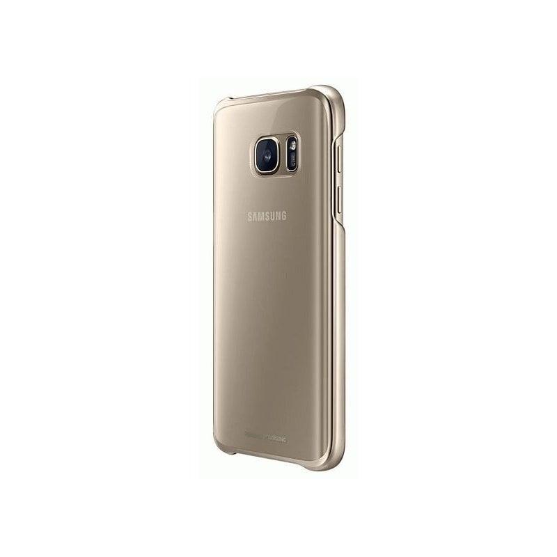 Чехол Clear Cover для Samsung Galaxy S7 G930 Gold (EF-QG930CFEGRU)