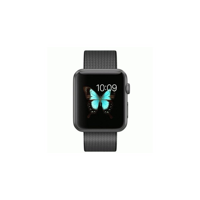 Apple Watch Sport 42mm Space Gray Aluminum Case with Black Woven Nylon (MMFR2)