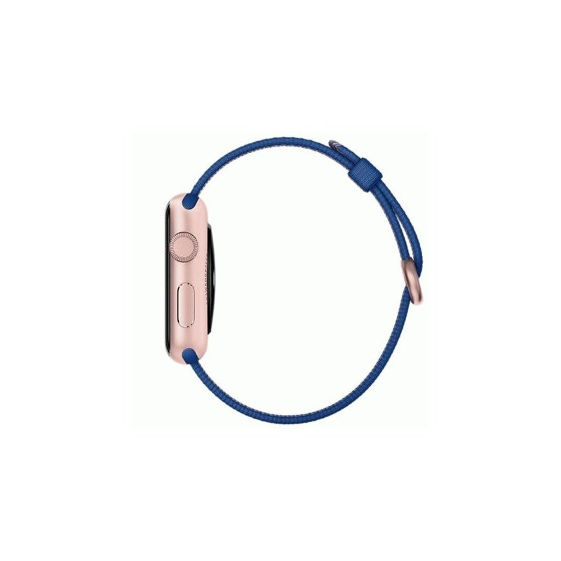 Apple Watch Sport 42mm Rose Gold Aluminum Case with Royal Blue Woven Nylon (MMFP2)