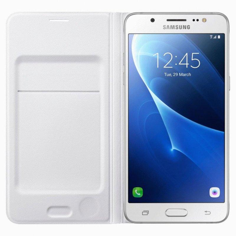 Чехол Flip Wallet для Samsung Galaxy J7 (2016) J710 White (EF-WJ710PWEGRU)