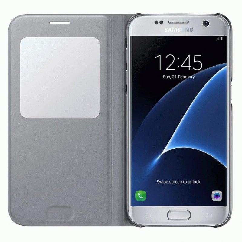 Чехол S View для Samsung Galaxy S7 Duos G930 Silver (EF-CG930PSEGRU)