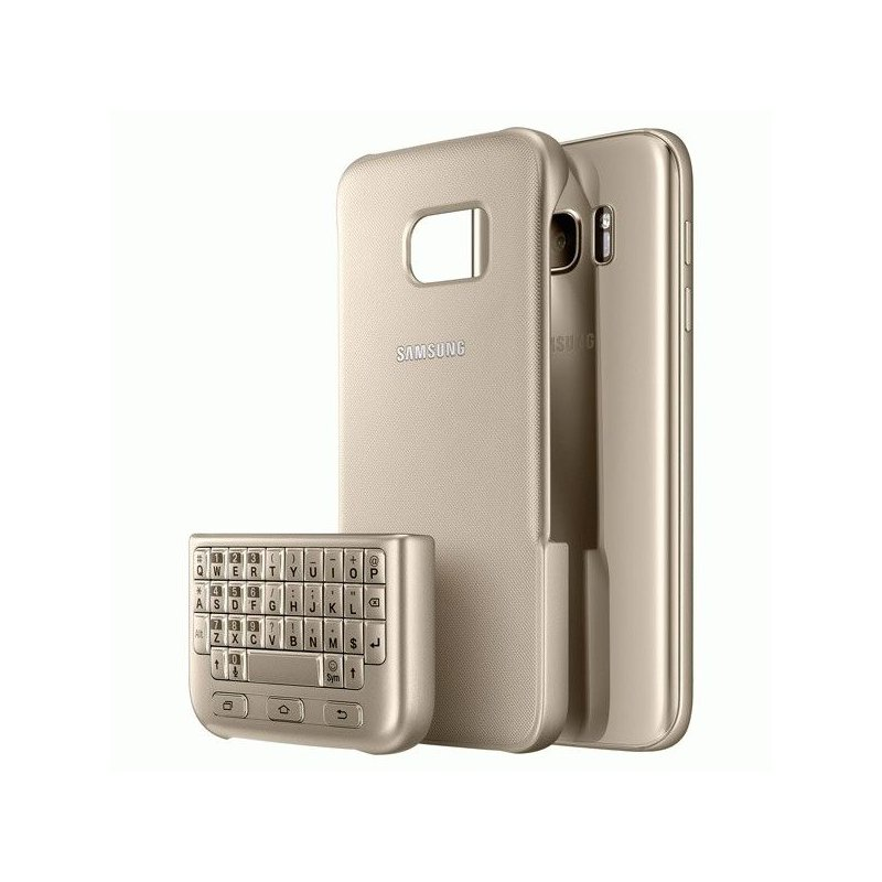 Чехол-клавиатура Keyboard Cover для Samsung Galaxy S7 G930 Gold (EJ-CG930UFEGRU)